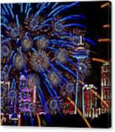 Niagara Fireworks Canvas Print