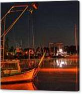 Night In The Harbor Canvas Print
