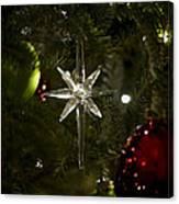 Night View Christmas Tree   1 Of 4 Canvas Print