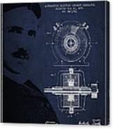 Nikola Tesla Patent From 1891 Canvas Print