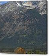 North Moulton Barn Grand Tetons Canvas Print