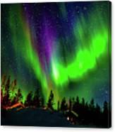 Northern Lights, Lapland, Sweden Canvas Print