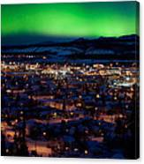Northern Lights Over Whitehorse Canvas Print