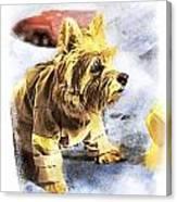 Norwich Terrier Fire Dog Canvas Print