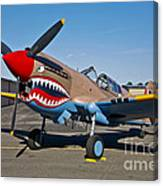 Nose Art On A Curtiss P-40e Warhawk Canvas Print