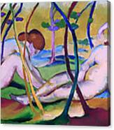 Nudes Under Trees Canvas Print