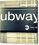 Nyc Subway Sign Canvas Print
