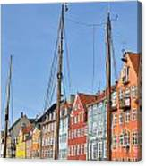 Nyhavn In Copenhagen Denmark - Famous Tourist Attraction Canvas Print