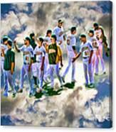 Oakland A's High Five Canvas Print
