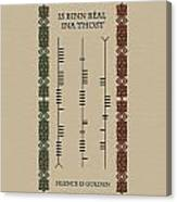 Ogham Silence Is Golden Canvas Print