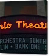 Ohio Theater Marquee Theater Sign Canvas Print