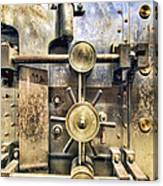 Old Bank Vault In Historic Building Canvas Print