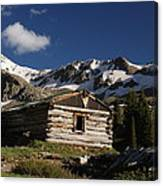 Old Cabin In Rocky Mountains Canvas Print