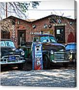 Old Cars On Route 66 Canvas Print