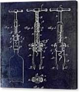 1898  Corkscrew Patent Drawing Canvas Print