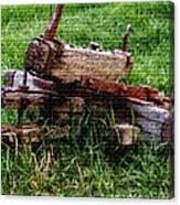 Old Farm Implement H B Canvas Print