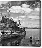Old Fishing Ship Wreck Canvas Print