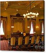 Old House Of Delegates Room Of The Maryland State House Canvas Print