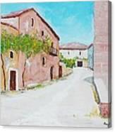 Old Houses Near The Old Church Canvas Print