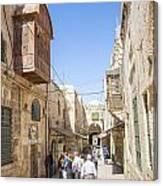 Old Town Street In Jerusalem Israel Canvas Print