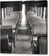 Old Train Seats Canvas Print