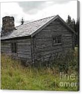 Old Wooden Cabin  Canvas Print