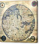 Old World Vintage Map Canvas Print
