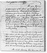 Olive Branch Petition, 1775 Canvas Print