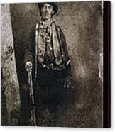 Only Authenticated Photo Of Billy The Kid Ft. Sumner New Mexico C.1879-2013 Canvas Print