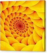 Yellow Pillow Vortex Canvas Print
