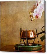 Orchid And Copper Fondue Canvas Print