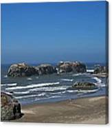 Oregon Beach And Rocks Canvas Print