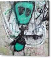 Other People's Art - Graffiti On The Berkeley Pier Canvas Print