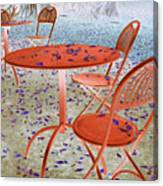 Outside Cafe  Canvas Print