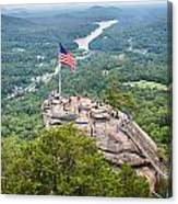 Overlooking Chimney Rock And Lake Lure Canvas Print