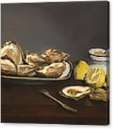 Oysters Canvas Print