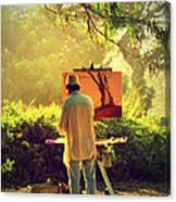 Within The Painting Canvas Print