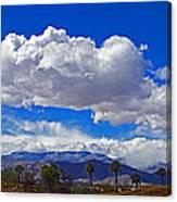 Palm Desert Clouds Canvas Print