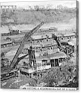 Panama Canal, 1910s Canvas Print