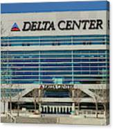 Panoramic Of Delta Center Building Canvas Print