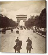 Paris Champs-�lys�es, C1900 Canvas Print
