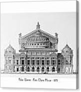 Paris Opera - 1875 Canvas Print