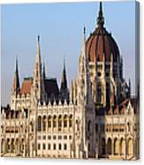 Parliament Building In Budapest Canvas Print