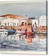 Paros-naousa Canvas Print