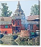Pasupatinath Temple Of Cremation Complex In Kathmandu-nepal- Canvas Print