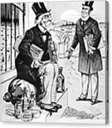 Patent Medicine Cartoon Canvas Print