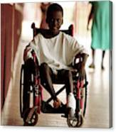 Patient In A Wheelchair Canvas Print