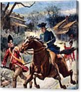 Paul Reveres Ride Canvas Print