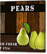 Pear Farm Canvas Print