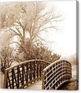 Pedestrian Bridge Canvas Print